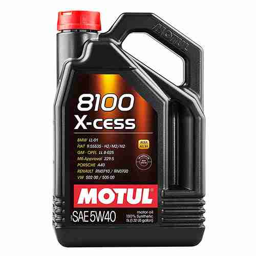 Motul 007250 8100 X cess 5W 40 Synthetic Gasoline and Diesel Engine Oil