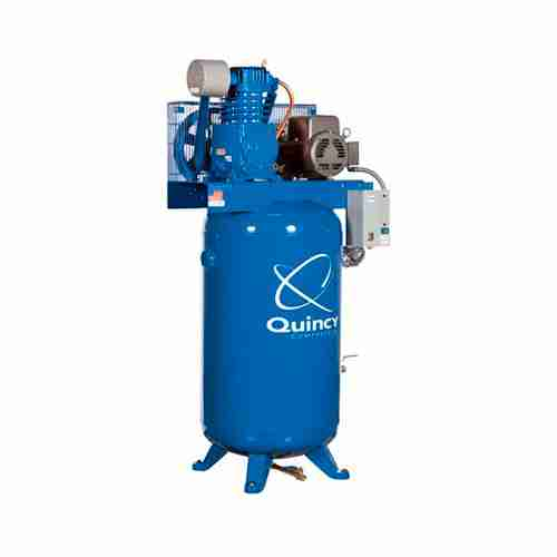 Quincy Reciprocating Air Compressor 5 HP 460 Volt 3 Phase 80 Gallon Vertical Model 253DS80VCB46
