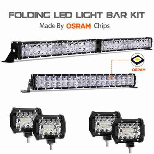 Autofeel 68000LM OSRAM Chips 42 Inch for Jeep Wrangler Ford Truck Boat