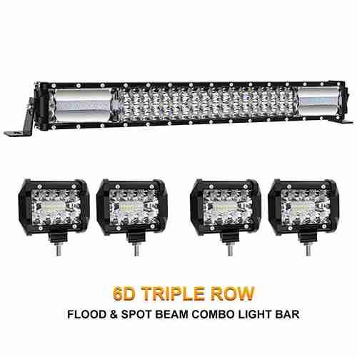 Rigidhorse Curved Quad Row LED Off Road Light Bar