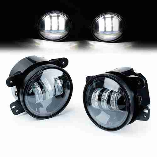 Xprite 4 Inch 60W CREE Led Fog Lights for Jeep Wrangler