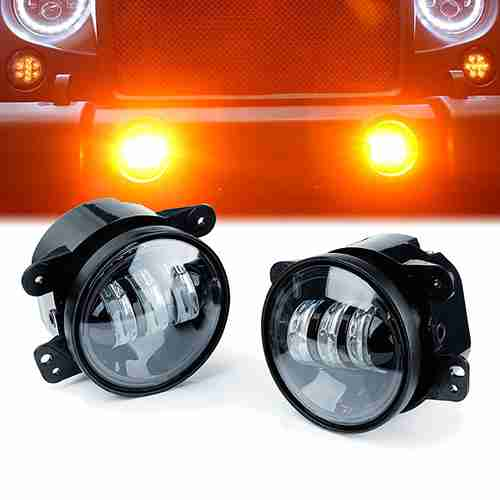 Xprite 4 Inch Amber Yellow 60W Cree Led Fog Lights