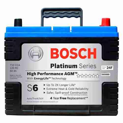 Bosch S6508B S6 Flat Plate AGM Battery