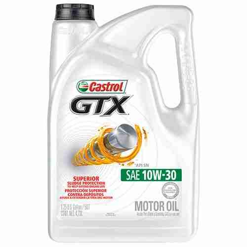 Castrol 03093 GTX 10W 30 Motor Oil 5 Quart
