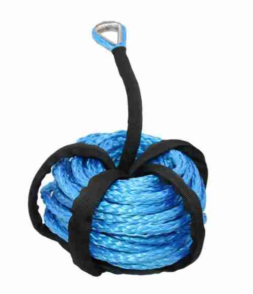 Winch Cable Blue Winch Rope 7000+ LBs with Sheath for atvs Winches ATV UTV SUV Truck Boat Ramsey Synthetic Winch Rope