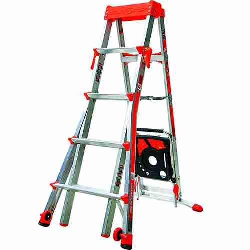 Select Step 5 Feet to 8 Feet 300 Pound Duty Rating Adjustable Step ladder