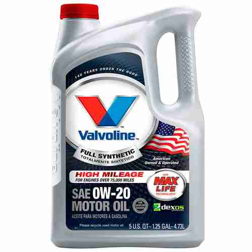 Valvoline Full Synthetic High Mileage with MaxLife Technology SAE 0W 20 Motor Oil
