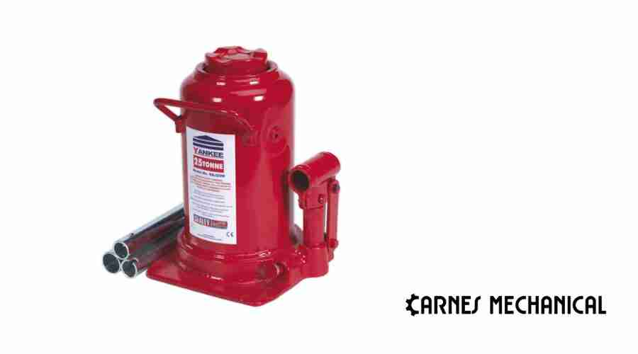how does a hydraulic bottle jack work