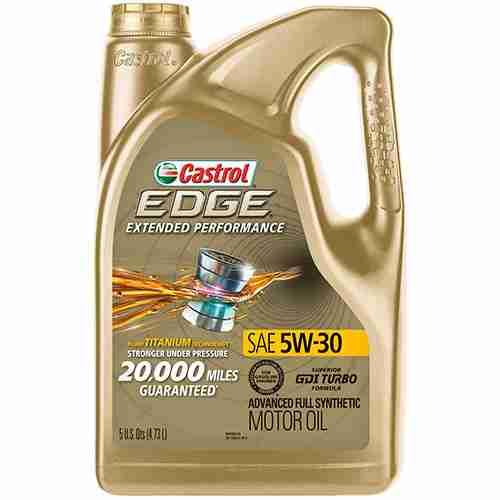 Castrol 03087 EDGE Extended Performance 5W 30 Advanced Full Synthetic Motor Oil 5 Quart 1