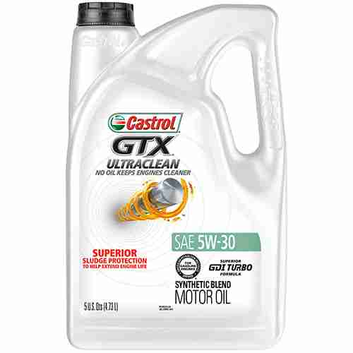 Castrol 03096 GTX ULTRACLEAN 5W 30 Motor Oil 5 Quart