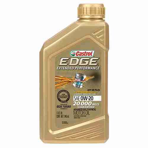 Castrol 06240 EDGE Extended Performance 0W 20 Advanced Full Synthetic Motor Oil