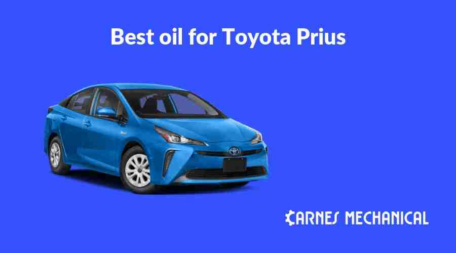 Best oil for Toyota Prius