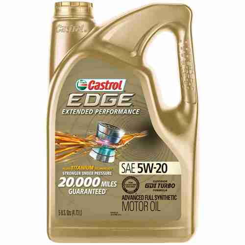 Castrol 03086 EDGE Extended Performance 5W 20 Advanced Full Synthetic Motor Oil 5