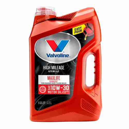 Valvoline High Mileage with MaxLife Technology SAE 10W 30 Synthetic Blend Motor Oil