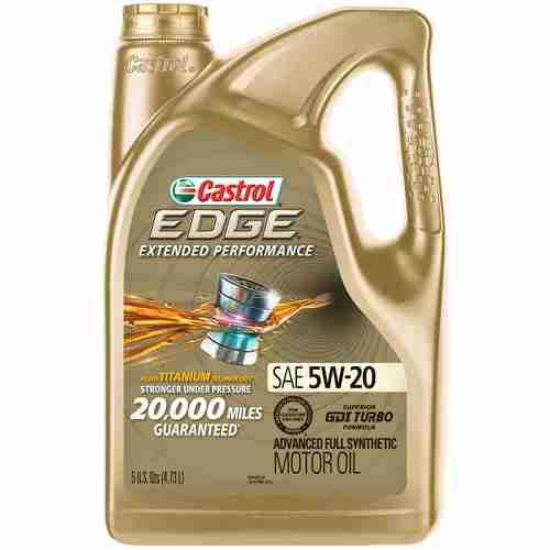 Castrol 03086 EDGE Extended Performance 5W 20 Advanced Full Synthetic Motor Oil 6
