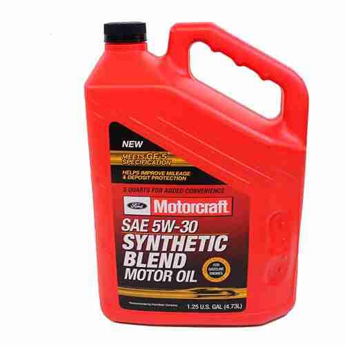 Genuine Ford Fluid XO 5W30 5QSP SAE 5W 30 Premium Synthetic Blend Motor Oil 2