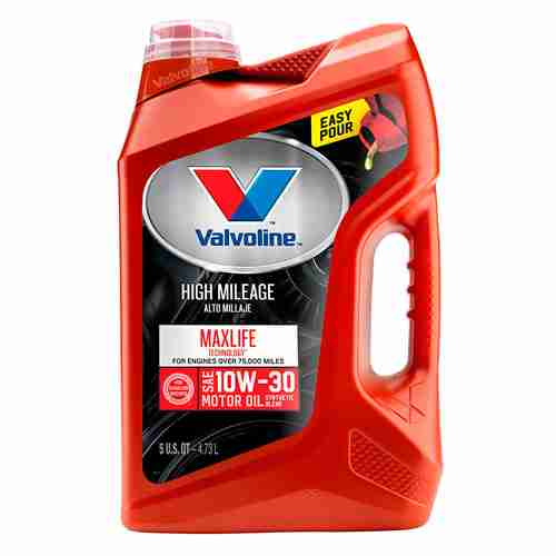 Valvoline High Mileage with MaxLife Technology SAE 10W 30 Synthetic Blend Motor