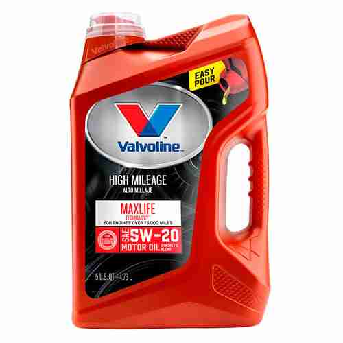 Valvoline High Mileage with MaxLife Technology SAE 5W 20 Synthetic Blend Motor Oil 5 QT