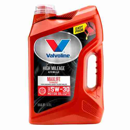 Valvoline High Mileage with MaxLife Technology SAE 5W 30 Synthetic Blend Motor Oil