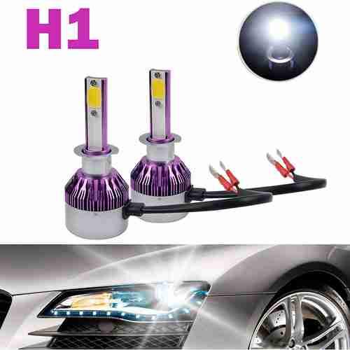 H1 LED Headlight Bulbs 12000LM 120W Cool White 6000K COB Chips