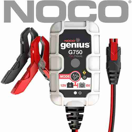 NOCO Genius G750 6V 12V .75 Amp Battery Charger and Maintainer