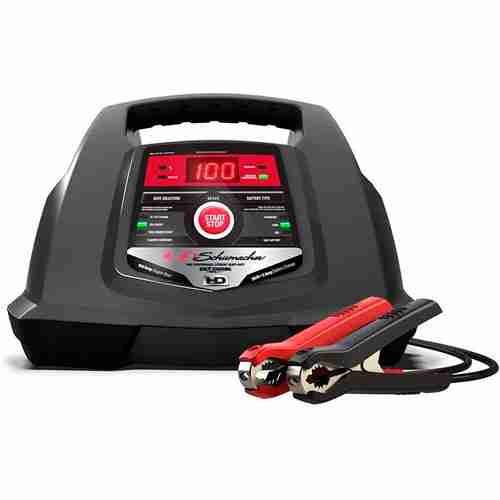 Schumacher SC1281 6 12V Fully Automatic Battery Charger and 30 100A Engine Starter with Advanced Diagnostic Testing