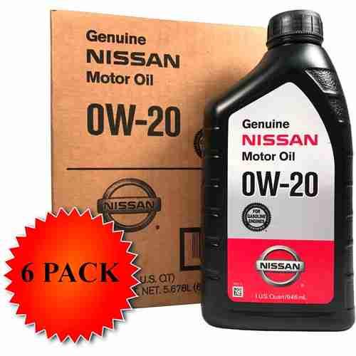 Genuine Nissan Synthetic 0W 20 Motor Oil