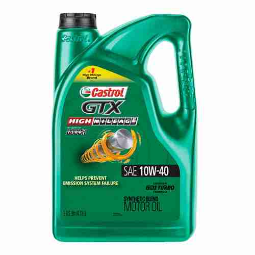 Castrol GTX High Mileage 10W 40 Synthetic Blend Motor Oil