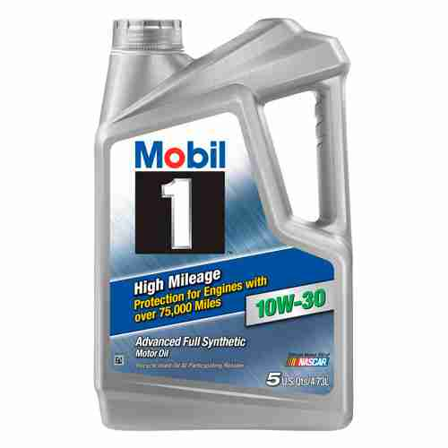 Mobil 1 High Mileage 10W 30 Motor Oil