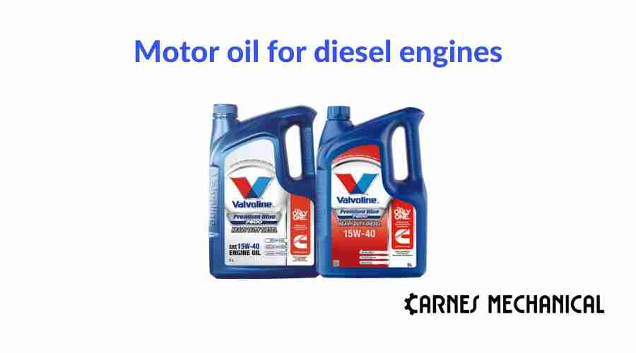Motor oil for diesel engines