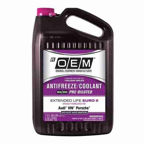 OEM POEMVW Premium Antifreeze 50 50 Extended Life Euro II Pink