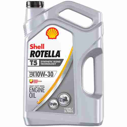 Shell Rotella T5 Synthetic Blend Diesel Engine Oil 10W 30