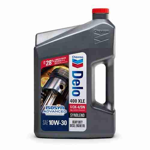 Chevron Delo 400 XLE Synblend Motor Oil 10W 30