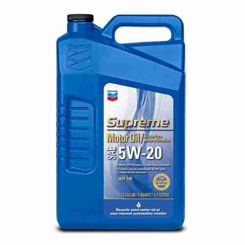 Chevron Supreme Motor Oil 5W 20