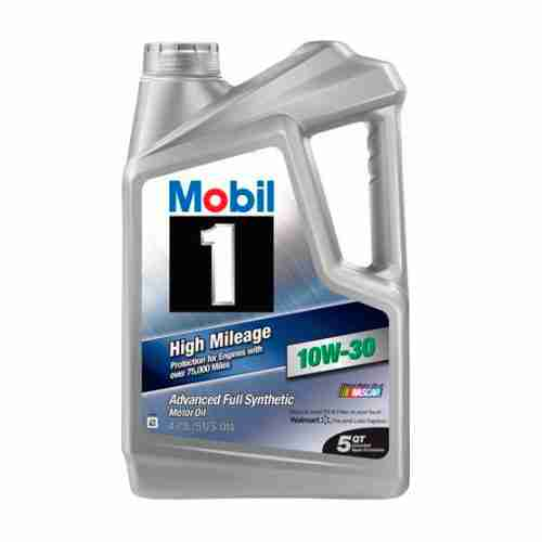 Mobil 1 High Mileage Full Synthetic Motor Oil 10W 30