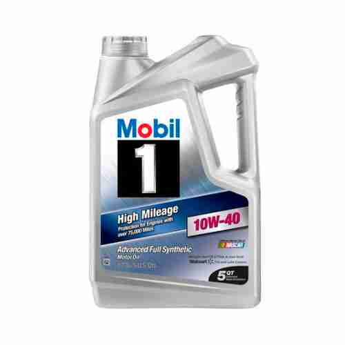 Mobil 1 High Mileage Full Synthetic Motor Oil 10W 40