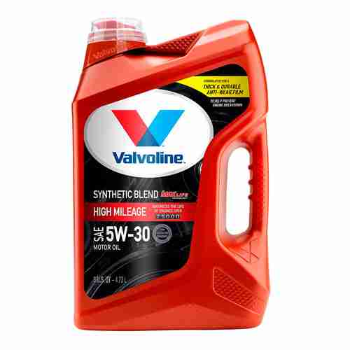 Valvoline High Mileage Synthetic Blend Motor Oil SAE 5W 30