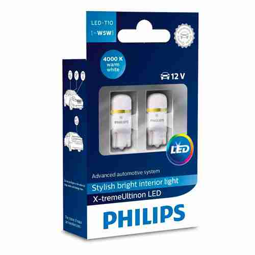 Philips Xtreme Vision 360 X tremeUltinon LED W5W T10 194 168 4000K