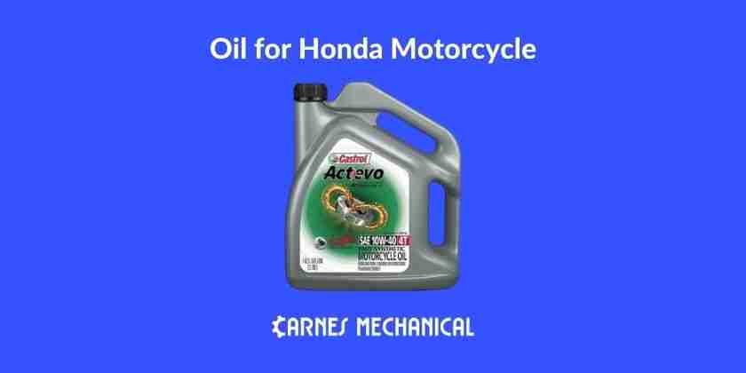 How to choose oil for honda motorcycle